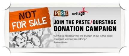 Paste/Ourstage Donation Campaign
